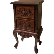 French Bedside Cabinet with 2 Drawers