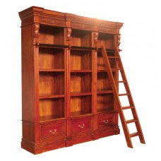 Library Bookcase with 3 Drawers